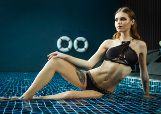 Nastya at my pool-25