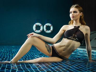 Nastya at my pool-25