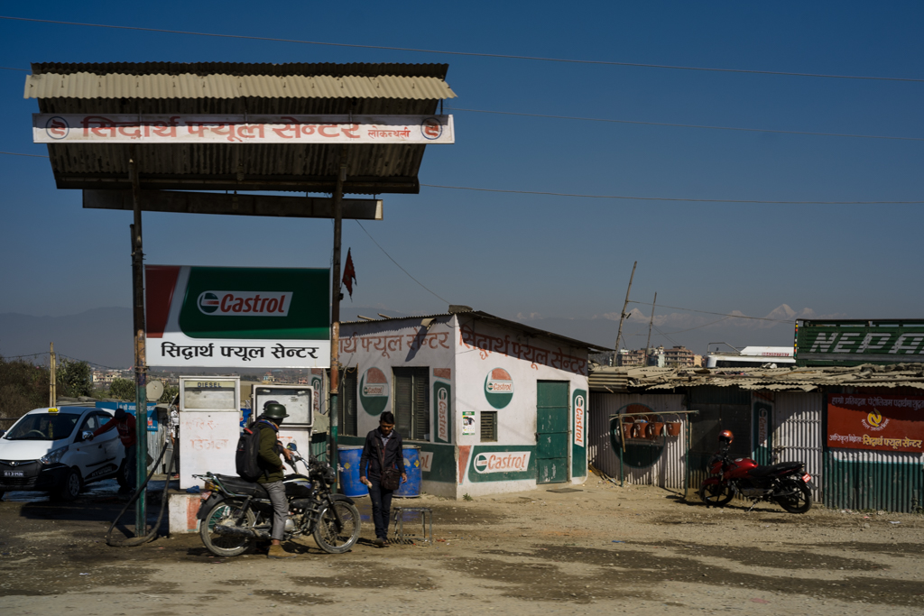 Kathmandu, Nepal, december 7th 2016: Gas station in Nepal
