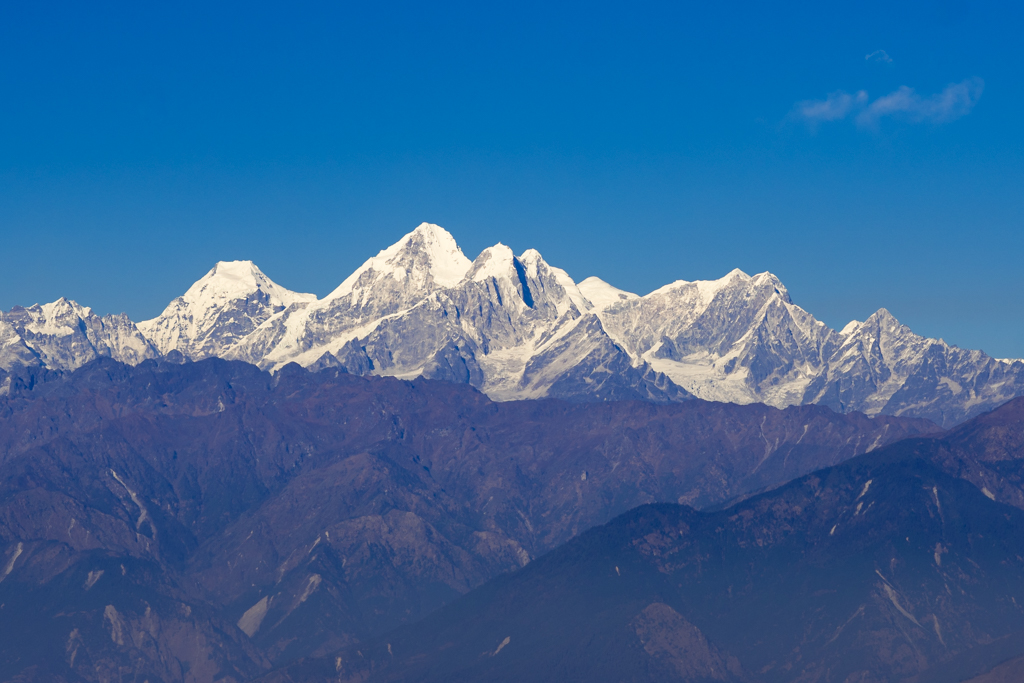 mount everest seen from Nagarkot