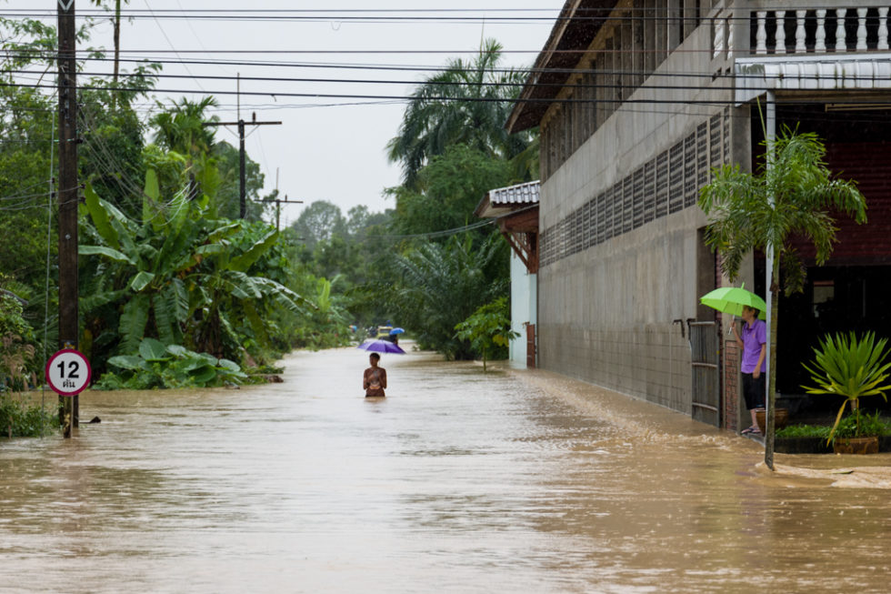flood in south thailand